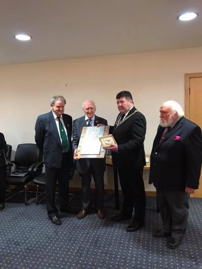 Presentation to Hector Duff