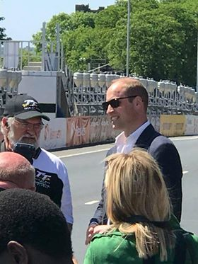 Duke of Cambridge visit to TT 2018