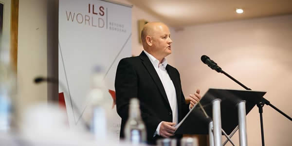 Rob Callister speaking at ILS debate