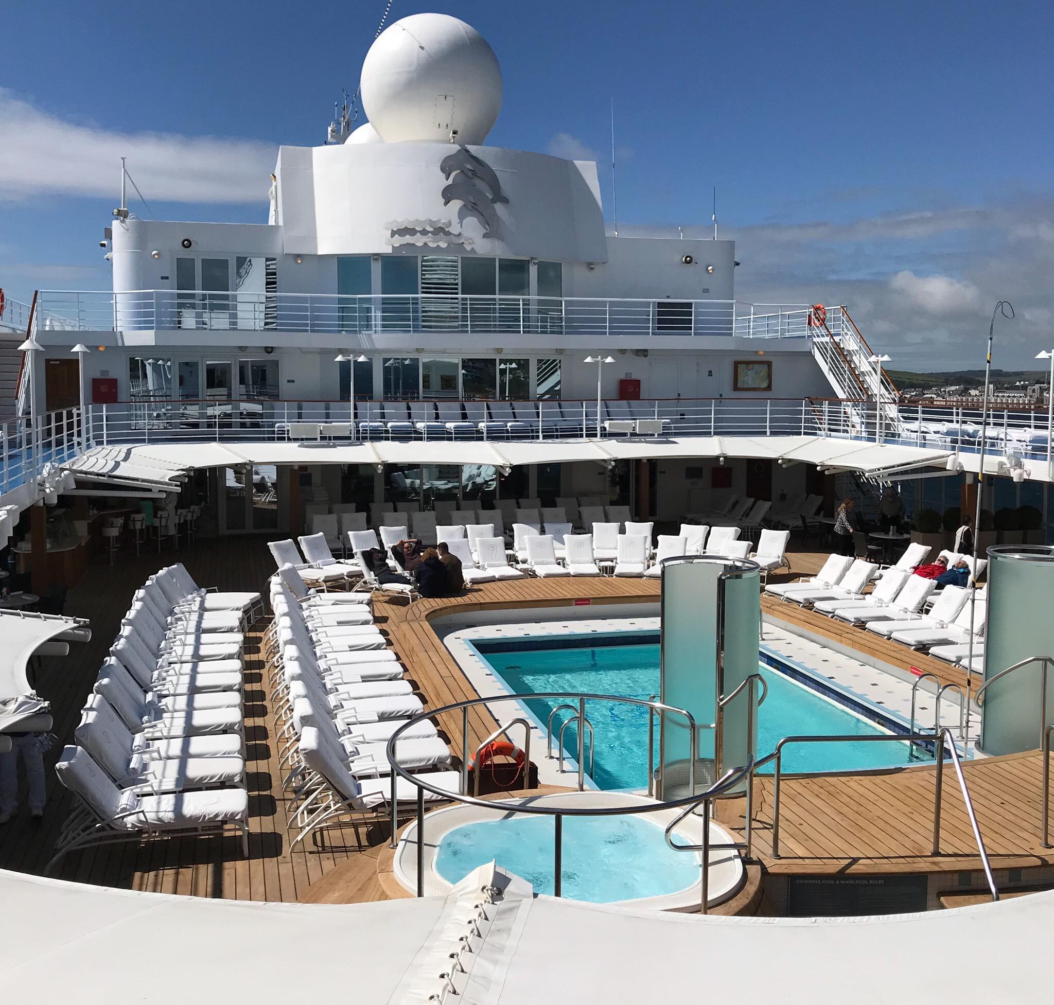 Maiden voyage of the Seven Seas Navigator Cruise Ship visiting the Isle of Man